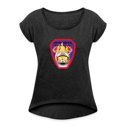 logo aspm - T-shirt à manches retroussées Femme