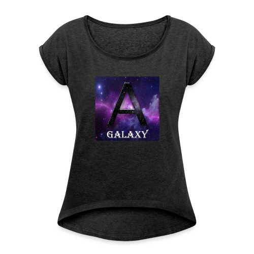 AwL Galaxy Products - Women's T-shirt with rolled up sleeves
