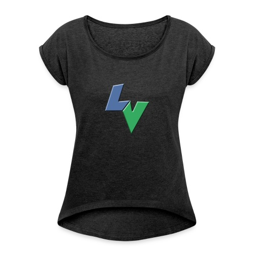 LeoVeo LV Logo - Women's T-shirt with rolled up sleeves