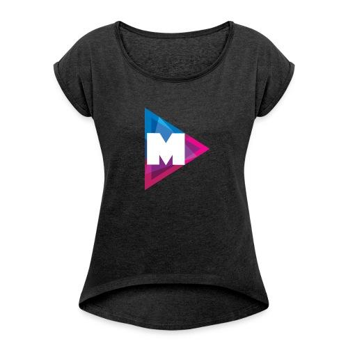 Mazzle - Frauen T-Shirt mit gerollten Ärmeln