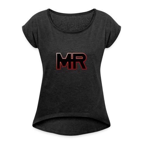 MR logo - Dame T-shirt med rulleærmer