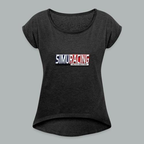 logo Simuracing - T-shirt à manches retroussées Femme