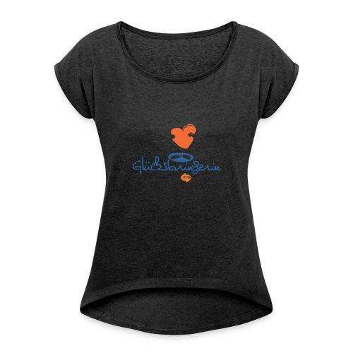 vtw Glücksbringerin - Frauen T-Shirt mit gerollten Ärmeln
