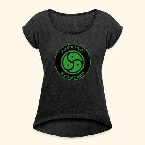 Yuukikai Logo - Frauen T-Shirt mit gerollten Ärmeln