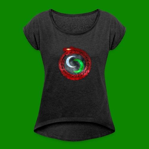 Emblème des créatures surnaturels. - T-shirt à manches retroussées Femme