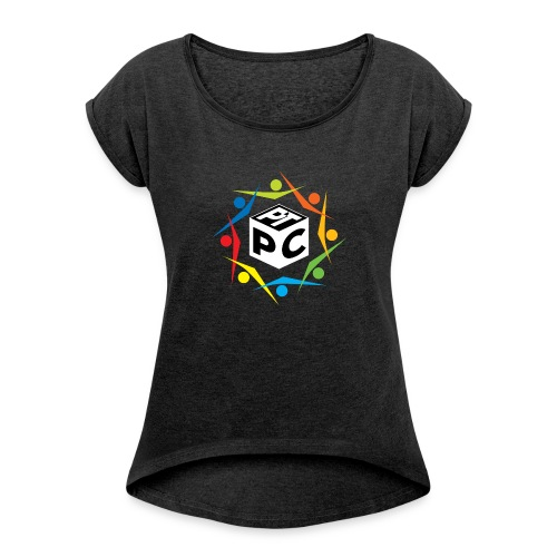 PCPT - Women's T-shirt with rolled up sleeves