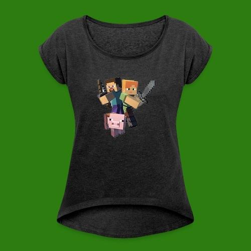 Minecraft - Maglietta da donna con risvolti