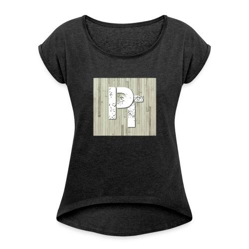 PATTY TV MERCH - Frauen T-Shirt mit gerollten Ärmeln