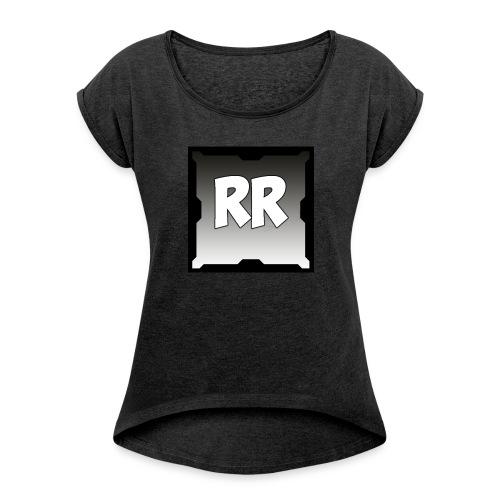 Rixel Simpel - T-shirt med upprullade ärmar dam