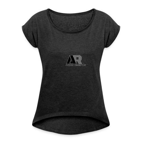 Alpha Records - Frauen T-Shirt mit gerollten Ärmeln