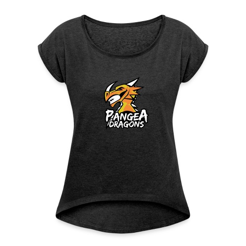 PanGea Dragons - Yellow - Frauen T-Shirt mit gerollten Ärmeln