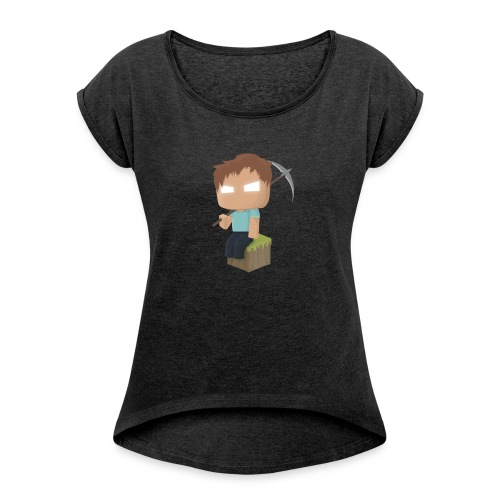 Collection Minecraft.fr - T-shirt à manches retroussées Femme