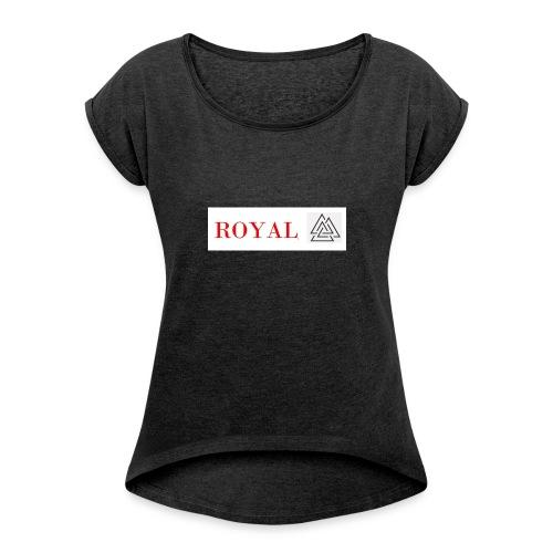 ROYAL2017 - Vrouwen T-shirt met opgerolde mouwen