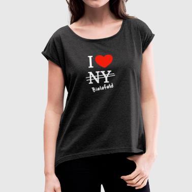 J'adore Bielefeld - T-shirt à manches retroussées Femme