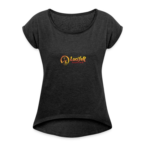 Lucifergaming - Vrouwen T-shirt met opgerolde mouwen
