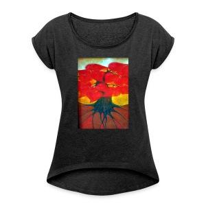 Bukiet - Koszulka damska z lekko podwiniętymi rękawami
