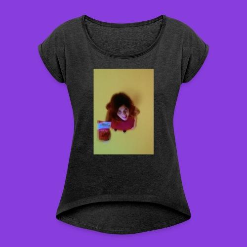 want sum? - Frauen T-Shirt mit gerollten Ärmeln