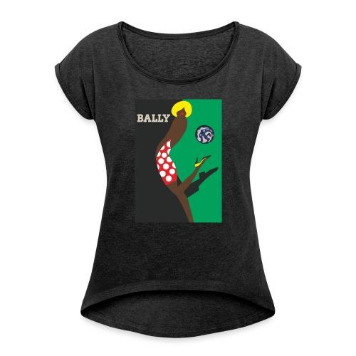 affiche - T-shirt à manches retroussées Femme