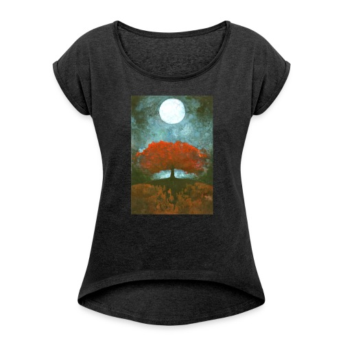 For Ever - Koszulka damska z lekko podwiniętymi rękawami