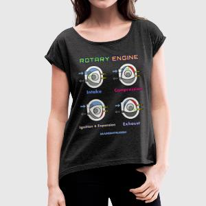 rotary engine - Women's T-shirt with rolled up sleeves