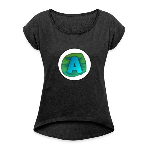 Arkeycrafter - Frauen T-Shirt mit gerollten Ärmeln
