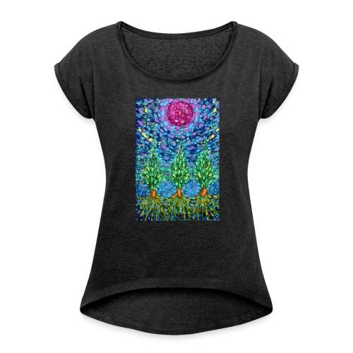 Tomorrow - Koszulka damska z lekko podwiniętymi rękawami