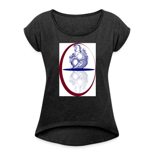 kelpie2 - Women's T-shirt with rolled up sleeves