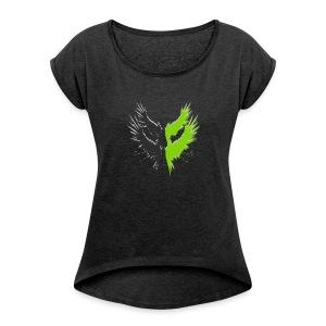 Project Icarus Logo - Vrouwen T-shirt met opgerolde mouwen