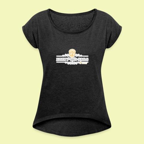 Logo NtnBeauty - Frauen T-Shirt mit gerollten Ärmeln