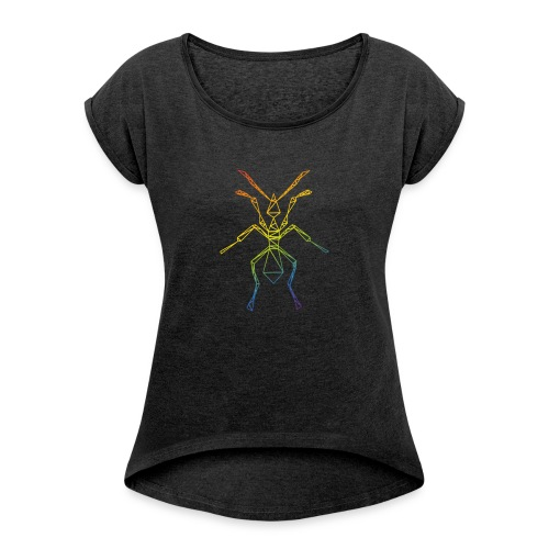 ANT - Logo - Women's T-shirt with rolled up sleeves