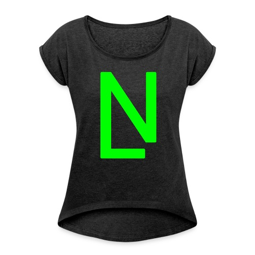 7 - Women's T-shirt with rolled up sleeves