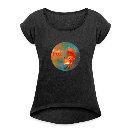 Fluxedfox - Women's T-shirt with rolled up sleeves