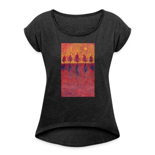 Yet A Bit Light - Koszulka damska z lekko podwiniętymi rękawami