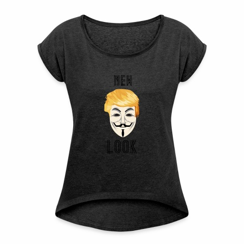 New Look Transparent /Anonymous Trump - Maglietta da donna con risvolti