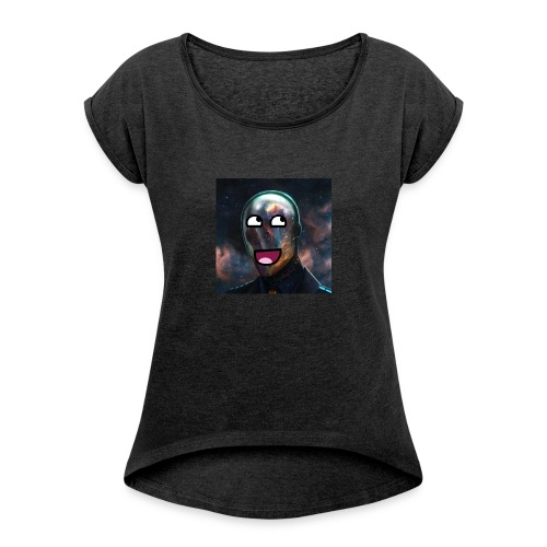GamingTechYT Logo - Women's T-shirt with rolled up sleeves
