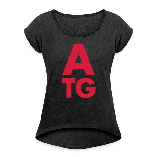 angrytableguys.com Icon - Frauen T-Shirt mit gerollten Ärmeln