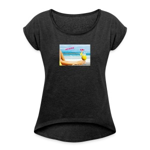 vipreiser 2017 design - T-skjorte med rulleermer for kvinner