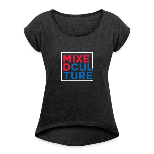 Mixed Culture Box White - Vrouwen T-shirt met opgerolde mouwen