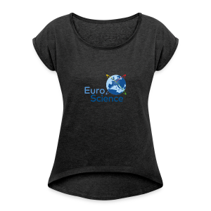 Euroscience logo - Women's T-shirt with rolled up sleeves