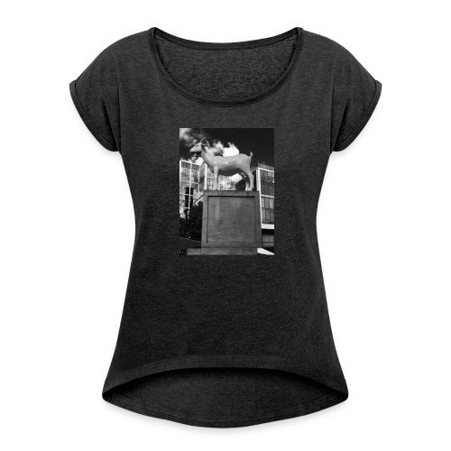 Ged tee - Dame T-shirt med rulleærmer
