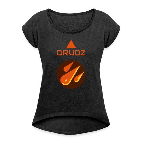 Drudz Yrkeskläder - T-shirt med upprullade ärmar dam