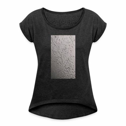 Moon - Frauen T-Shirt mit gerollten Ärmeln