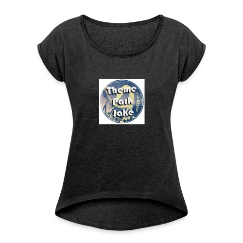 THEME PARK JAKE LOGO - Women's T-shirt with rolled up sleeves
