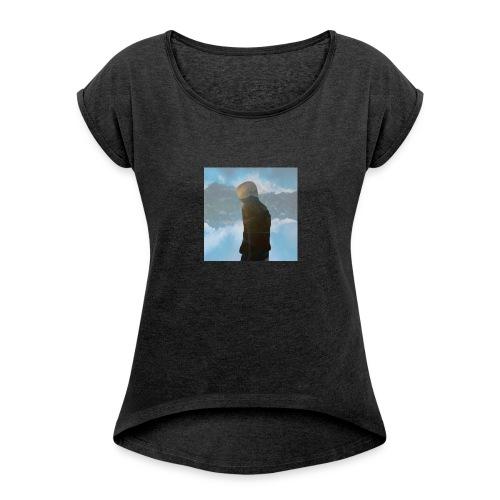 MiniMellow - T-skjorte med rulleermer for kvinner