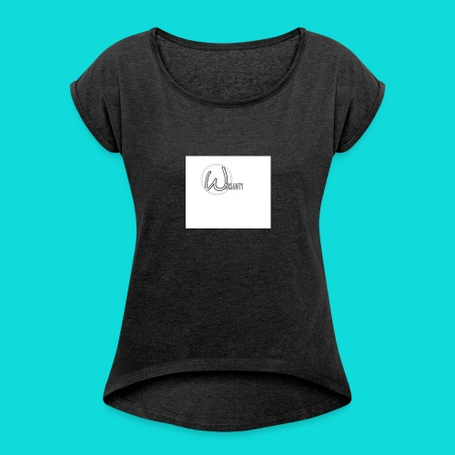 Warranty - Women's T-shirt with rolled up sleeves