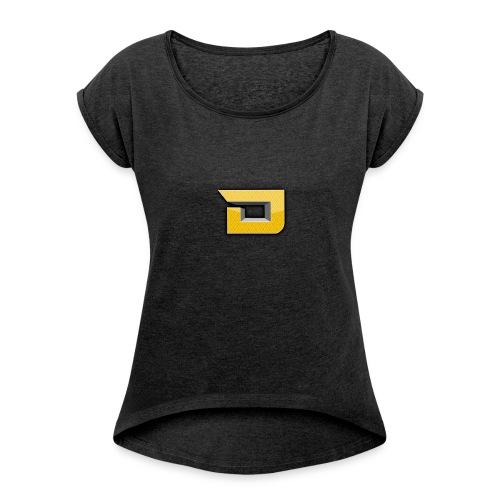 shirtontwerp - Vrouwen T-shirt met opgerolde mouwen