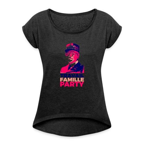 Alt-Nationalisme - T-shirt à manches retroussées Femme