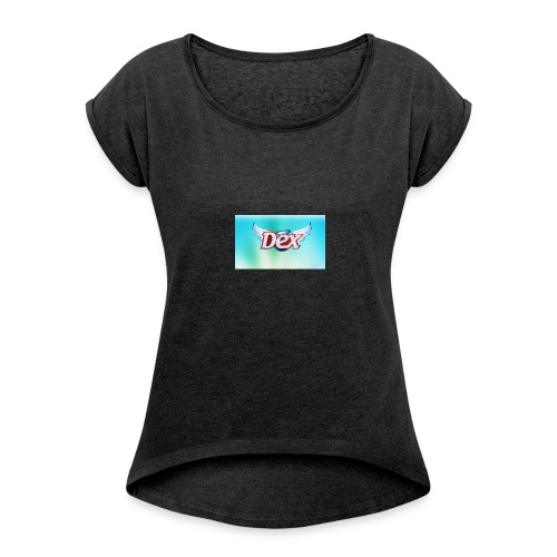 DaXzErT mode - T-shirt à manches retroussées Femme