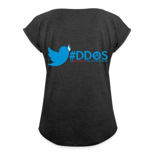 ddos - Women's T-shirt with rolled up sleeves
