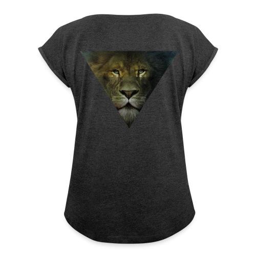 Lion Triangle Collection - T-shirt à manches retroussées Femme
